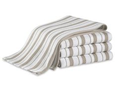 Williams-Sonoma Striped Towels, Claret, Set of 4