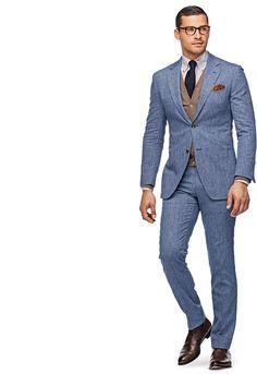 Suit Blue Plain Roma P3365 | Suitsupply Online Store