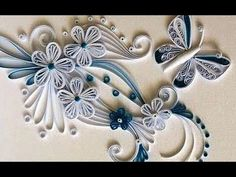 New : Art & Craft How to make Beautiful Quilling white.Yellow Flower design -Paper Art Quilling, My