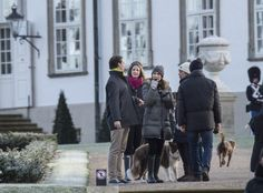 The Danish and Greek royals getting some fresh air outside Fredensborg Palace on Boxing Day.26/12/2014