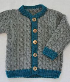 Baby Knitting Patterns Cable Knit Jacket Hansel and Gretel, size - Knitting instructions by Makerist Kids Knitting Patterns, Baby Sweater Patterns, Knitting Designs, Crochet Patterns, Baby Boy Knitting, Knitting For Kids, Easy Knitting, Crochet Pullover Pattern, Baby Girl Sweaters