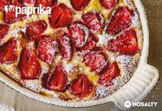 Epres-túrós süti Hungarian Recipes, Hungarian Food, Strawberry Cakes, Pepperoni, Bakery, Pizza, Cooking, Sweet, Hungary