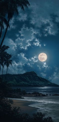 Waikiki Moonscape, Hawaii One day. Beautiful Moon, Beautiful World, Beautiful Places, Beautiful Pictures, Simply Beautiful, Amazing Places, Shoot The Moon, All Nature, Night Skies