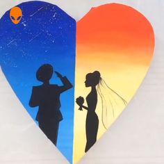 Beautiful Paintings About Love - Painting Tutorial Videos Sky Painting, Painting & Drawing, Hand Lettering Art, Pretty Landscapes, Landscape Paintings, Deer Paintings, Letter Art, Acrylic Art, Beautiful Paintings