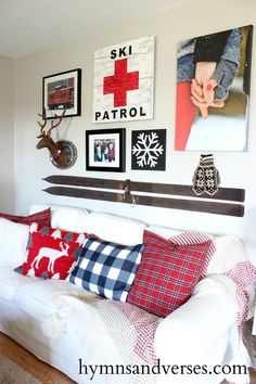 Create a winter ski lodge gallery wall with products from Shutterfly.