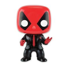 Marvel Pop! Vinyl Wackelfigur Deadpool in Anzug und Krawatte. Hier bei www.closeup.de