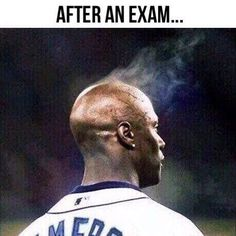 LOL Tag somebody who looks like this after an exam  more funny memes at:  http://gc.mes.fm/memes
