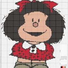 +130 Farklı Kanaviçe Örnekleri ve İşleme Şablonları - Mimuu.com Cross Stitch Patterns, Crochet Patterns, C2c Crochet, Betty Boop, Hama Beads, Cartoon Characters, Pixel Art, Machine Embroidery, Mickey Mouse