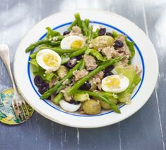 Give the bistro classic, Niçoise salad, a seasonal twist by swapping green beans for tender asparagus