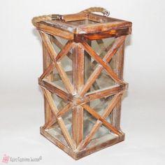 Ξύλινο φανάρι Wooden Products, Decorative Boxes, Vase, Decoration, Home Decor, Decor, Decoration Home, Room Decor, Decorations
