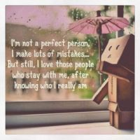 danbo Im not a perfect person Danbo, If I Stay, Instagram Quotes, Digital Photography, Forgiveness, Comedy, Reading, My Love, Box