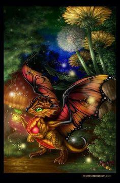 Cute Butterfly Dragon