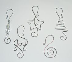 Christmas Ornament Hooks TWO packages - Holiday Decorations - Christmas Ball Hooks - Ornament Hangers by gay Christmas Tree Ornament Hooks, Wire Ornaments, Noel Christmas, Homemade Christmas, Christmas Balls, Christmas Decorations, Ornament Tree, Wire Crafts, Christmas Projects