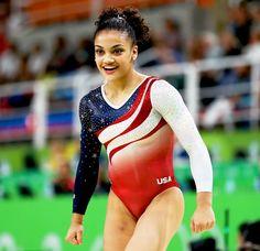 The truth behind the U. 'Final Five' gymnastics team: Laurie Hernandez's bionic knee Gymnastics Floor Routine, Gymnastics Facts, Gymnastics Images, Gymnastics World, Gymnastics Posters, Amazing Gymnastics, Olympic Gymnastics, Elite Gymnastics, Lauren Hernandez