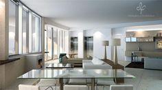 Apartamento Modelo A · Aprox. 950m2 de área total com vista direta ao mar. · Min. 4 suítes + escritório + quarto reversível.