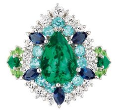 Cher Dior Exquise Emerald ring Victoire de Castellane's new colourful collection of Dior haute joaillerie is the stuff of fantasy.