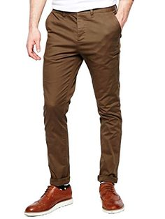 Italy Morn Men Chino Pants Khaki Slim Fit Stretch Cotton Twill Fabric Trousers (M, Camel) - FrenzyStyle Mens Chino Pants, Men's Pants, Trousers, Italy Fashion, Men's Fashion, Morning Workouts, Dark Circles Under Eyes, Cotton Twill Fabric, Latest Fashion Trends
