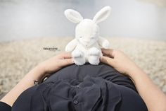 Pregnancy photography - use the same cute teddybear at the newborn photography shoot =)