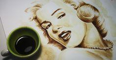 Marilyn Monroe D. Veiga - Coffee Art painted with coffee