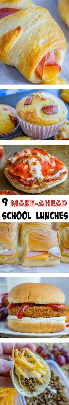 9 Back to School Make-Ahead Lunch Ideas from The Food Charlatan. Who has time to make lunch every morning? Yeah me neither. Check out these creative lunch ideas from my sister Laura!