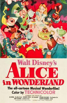 Walt Disney's Alice in Wonderland, 1951, Alice, Mad Hatter, Caterpillar, March Hare, Tweedle Dee and Dum, Dodo, and Queen of Hearts!