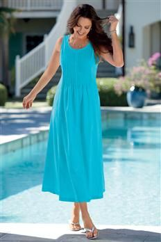 Pintucked Maxi Dress | Chadwicks