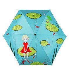 Bathing Girls Beautiful Rain Umbrella Light Weight Anti-Uv Folding Parasol