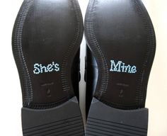 She's Mine Shoe Sticker.