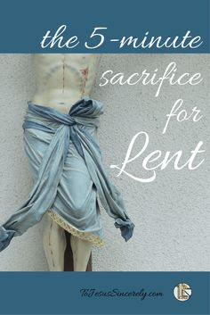 This post has the best idea for Lent.  A must read!