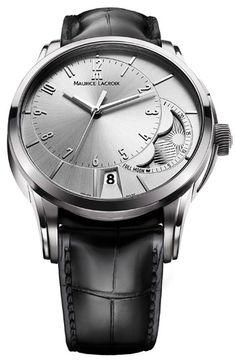 Maurice Lacroix Pontos Decentrique Silver Dial Moonphase Men s Watch  PT6318-SS001-130. Ρολόγια ... e3e9f137d51