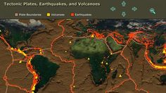 Interactive whiteboard application that shows where volcanoes and plate boundaries are in the world. (Shows volcanoes along plate boundaries when you select both) Science Classroom, Teaching Science, Science Education, Classroom Resources, Teaching Resources, Classroom Ideas, Science Topics, Science Lessons, Science Activities