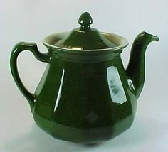 "Hall China ""Buchanan"" Teapot in Forest Green"