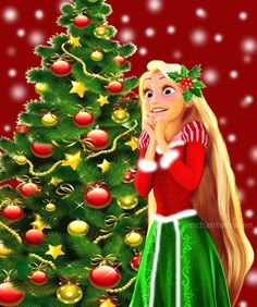 Disney Christmas - I Disney! Disney Dream, Disney Style, Disney Love, Disney Magic, Walt Disney, Disney Cruise, Disney Rapunzel, Princess Rapunzel, Tangled Rapunzel