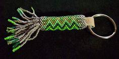 Green Guardian: Circular Peyote Keychain. $20.00, via Etsy.