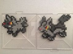 #261-#262 Poochyena and Mightyena Perlers by TehMorrison