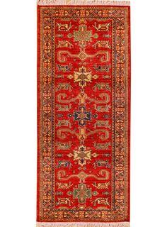 """Deep Red Oriental Kazak Runner 2' x 6' 2"""" (ft) - No. 26441"""