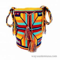 Authentic Crochet Wayuu Mochilas ~wybag-261