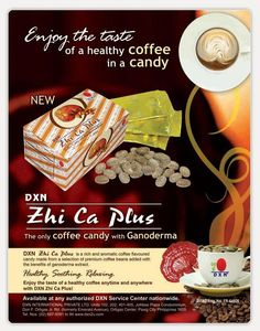 DXN Zhi Ca Plus is a rich and aromatic coffee flavoured candy specially made for consumers who wish to limit their sugar intake. It is made from a selection of premium quality coffee beans with the added benefits of Ganoderma extract. DXN Zhi Ca Plus indulges your sweet tooth whilst making you feel energized.