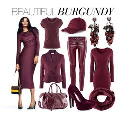 Beautiful Burgundy by hmlife on Polyvore featuring moda and H&M