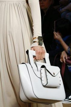 Céline optic white structured bag