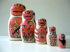 Zombie Devil Nesting Art Dolls