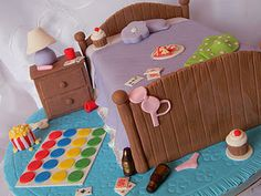 Adult slumber party cake