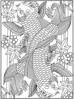 koi fish coloring pages - Pesquisa Google