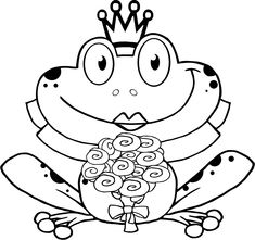 free frog prince coloring pages   208 Best Frog coloring pages images   Frogs, Cute frogs ...