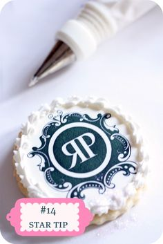 Decorating logo cookies