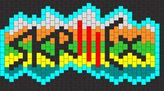 Skrillex Glow Cuff bead pattern