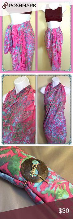 "Beautiful Batik Sarong Wrap Beautiful Batik Sarong Wrap from Bali, Indonesia. Can be worn as a dress, wrap or skirt. Size : 61 1/2"" x 41 1/2"". New. Thanks for visiting my closet. Happy Poshing Other"