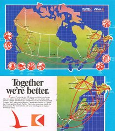 Pacific Airlines, Canadian Airlines, Goose Bay, May 27, International Airlines, Western Canada, Cabin Design, Visual Identity, Vintage Posters