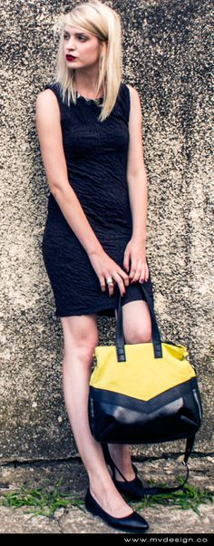 MVD No.5 #bags #bag #fashion #model #style #stylish #inspiration #mvdesign #handmade #yellow #black #irenacanic  Like us on FB: https://www.facebook.com/mvdesignCO http://www.mvdesign.co/