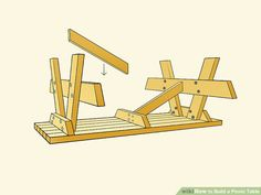 How to Build a Picnic Table. Whether you plan on sitting in the shade or having a picnic, having a sturdy table helps. Building a good table is relatively. Woodworking Techniques, Woodworking Plans, Woodworking Projects, Build A Picnic Table, Picnic Tables, Indoor Firewood Rack, Ideas Terraza, Log Cabin Designs, Carriage Bolt